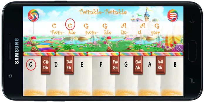 Numbered Notes Application on a Phone Candy Land