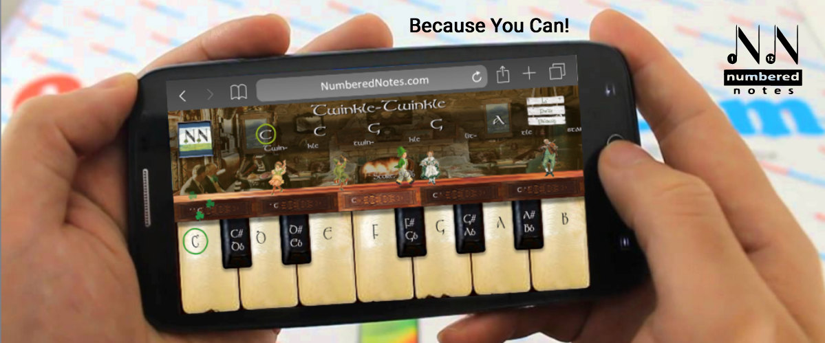 Numbered Notes Piano App Android Phone