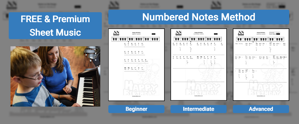 Numbered Notes Sheet Music Top Page Image